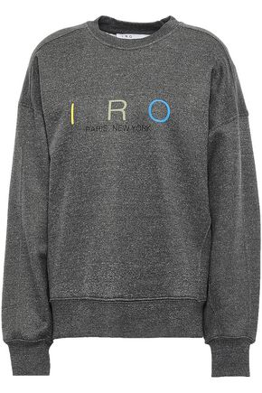 IRO Million printed fleece sweatshirt