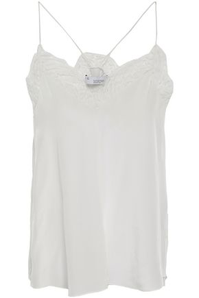 IRO Lace-trimmed silk camisole