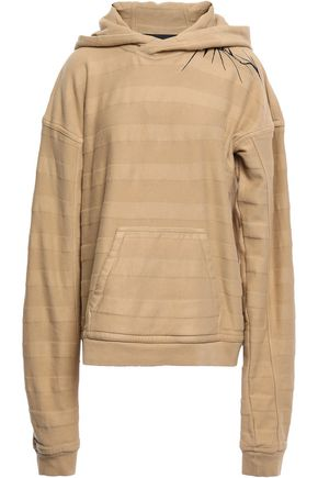 HAIDER ACKERMANN Embroidered cotton-fleece hooded sweatshirt