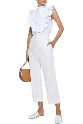 G. LABEL Ruffled cotton-poplin blouse