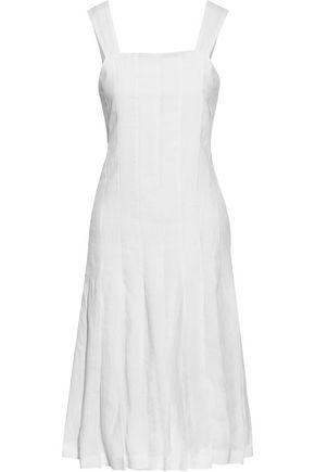 MANSUR GAVRIEL Pleated linen dress