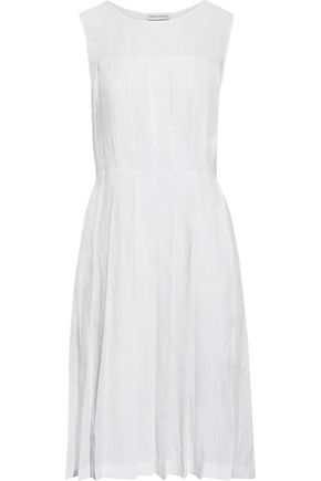 MANSUR GAVRIEL Pleated linen dress