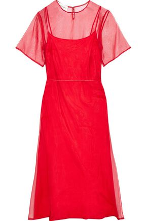 MANSUR GAVRIEL Silk-organza midi dress