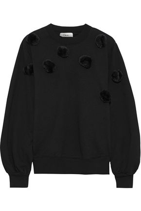 CLU Pompom-embellished cotton-fleece sweatshirt
