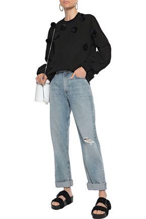 CLU Pompom-embellished cotton-fleece sweatshirt