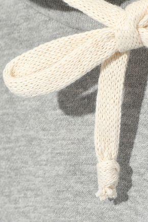 CLU Asymmetric cotton-blend fleece hoodie