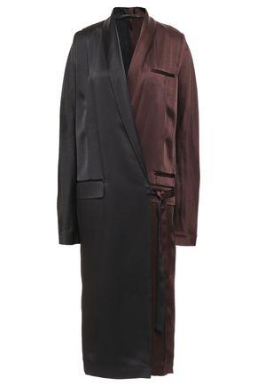 HAIDER ACKERMANN Two-tone satin-crepe midi wrap dress