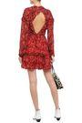 IRO Darling open-back printed georgette mini dress