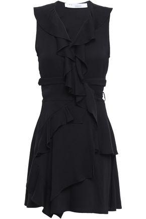 IRO Ruffled crepe mini wrap dress