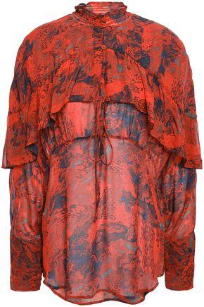 IRO Klara printed crepe blouse