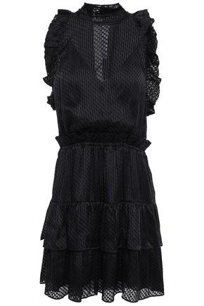 IRO Tiered ruffled fil coupé chiffon mini dress