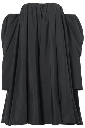 CALVIN KLEIN 205W39NYC Off-the-shoulder ruffled shell dress