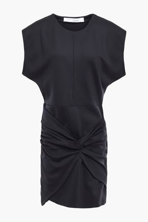 IRO Knotted scuba mini dress