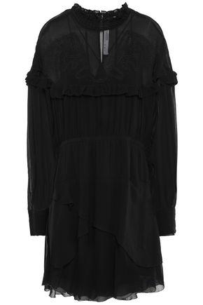 IRO Paradiz layered broderie anglaise-paneled chiffon mini dress