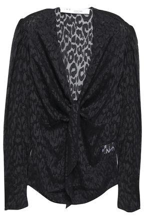IRO Tie-front fil coupé blouse