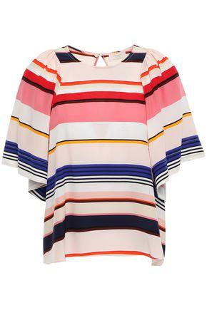 KATE SPADE New York Striped silk crepe de chine blouse