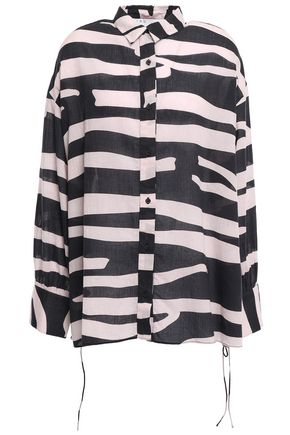 IRO Zebra-print cotton shirt