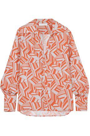 CHLOÉ Printed silk crepe de chine blouse