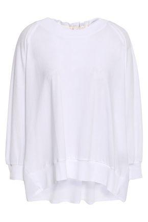 ANN DEMEULEMEESTER Paneled cotton-poplin and jersey top