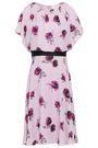 KATE SPADE New York Cold-shoulder floral-print silk crepe de chine dress