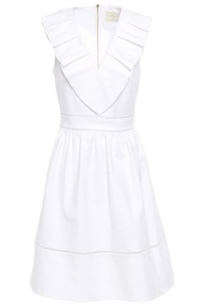 KATE SPADE New York Pleated cotton-blend dress