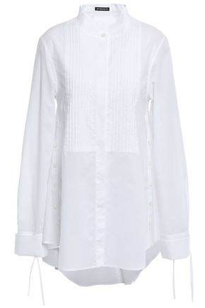 ANN DEMEULEMEESTER Pintucked cotton-poplin shirt