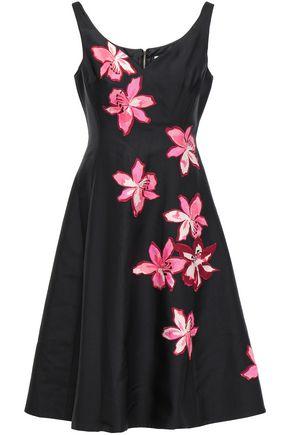 KATE SPADE New York Appliquéd twill dress