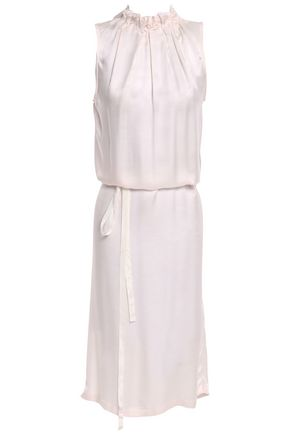 ANN DEMEULEMEESTER Pleated mousseline dress