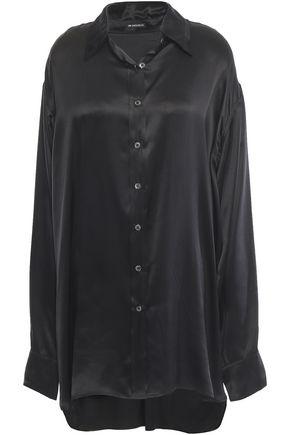 ANN DEMEULEMEESTER Oversized silk-satin shirt