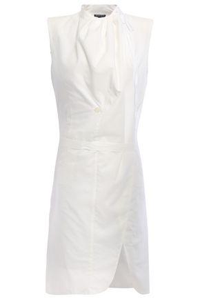ANN DEMEULEMEESTER Wrap-effect cotton-poplin tunic