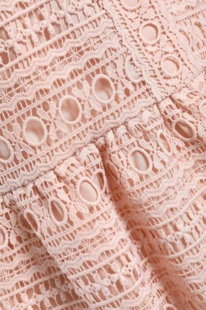 KATE SPADE New York Guipure lace peplum top