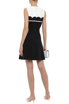 KATE SPADE New York Bow-embellished crepe mini dress