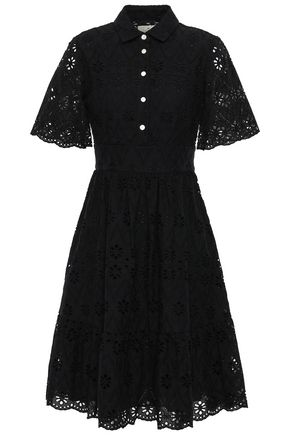 KATE SPADE New York Broderie anglaise cotton shirt dress