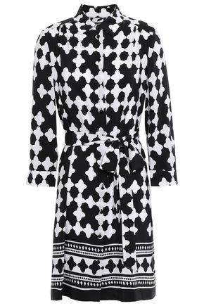 KATE SPADE New York Belted printed silk crepe de chine mini shirt dress