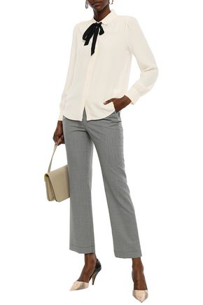 KATE SPADE New York Bow-embellished silk crepe de chine blouse