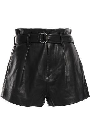 IRO Belted leather shorts