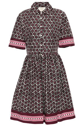 KATE SPADE New York Printed cotton-blend poplin shirt dress