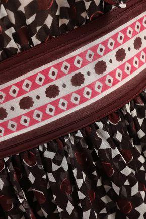 KATE SPADE New York Wrap-effect printed silk-georgette midi dress