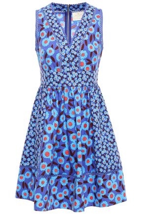 KATE SPADE New York Floral-print cotton-blend mini dress
