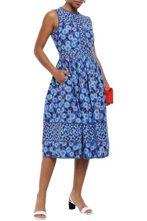 0046dd40c716 KATE SPADE New York Floral-print cotton-blend midi dress