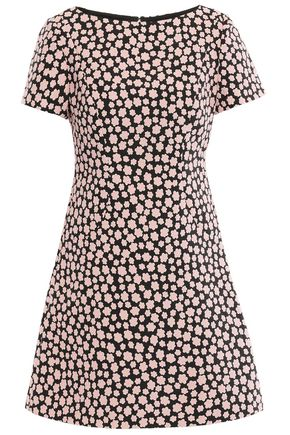 KATE SPADE New York Floral-jacquard mini dress