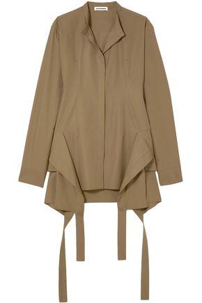 JIL SANDER Paneled cotton-poplin blouse