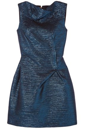 ROLAND MOURET Zonda metallic woven mini dress