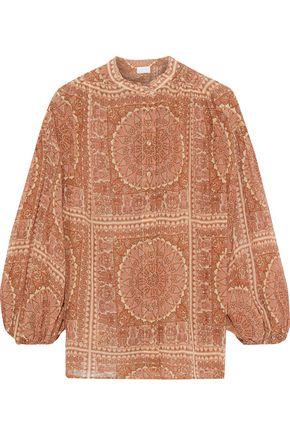 ZIMMERMANN Primrose Crinkle floral-print cotton and silk-blend blouse