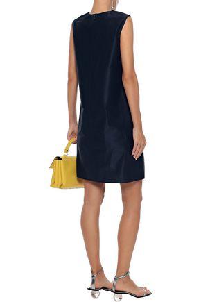 MANSUR GAVRIEL Cotton and silk-blend taffeta mini dress