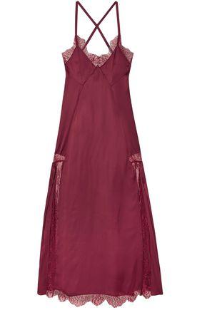 OFF-WHITE™ Elsa lace-paneled satin midi dress