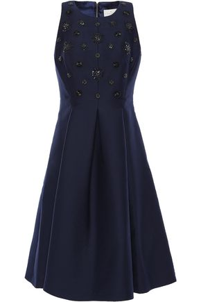 KATE SPADE New York Embellished pleated woven dress