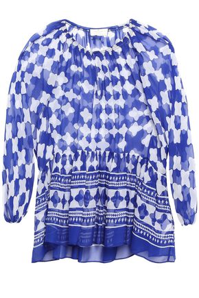 KATE SPADE New York Printed silk-chiffon blouse