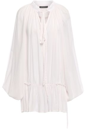 ANN DEMEULEMEESTER Gathered mousseline blouse