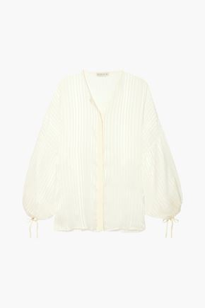 ETRO Checked silk-jacquard blouse